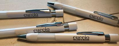 Bild von Witte Basic pen met Cuccio Holland & Belgium logo in zwart