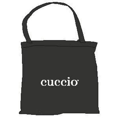 Bild von Witte Cuccio draagtas (zwart logo)