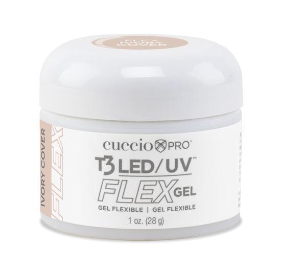 Afbeeldingen van T3 LED/UV Flex Gel - Ivory Cover 28 gram