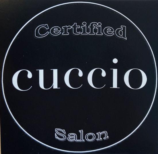 Afbeeldingen van Zwarte (raam)sticker - Certified Cuccio Salon
